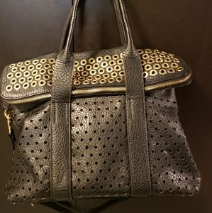 Nordstrom black and gold tote/ crossbody bag